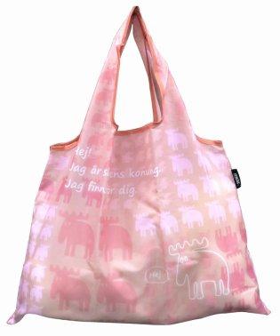 【moz】 折りたたみショッピングバッグ ピンク