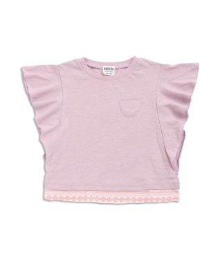 袖レイヤード ポケット付Tシャツ