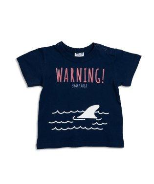 サメプリントTシャツ