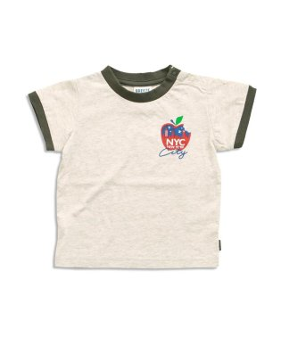 フード4柄リンガーTシャツ
