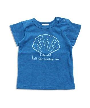 貝殻プリントTシャツ
