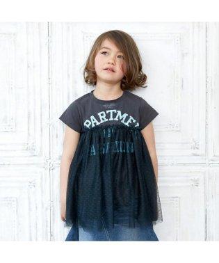 カレッジロゴチュール付きTシャツ