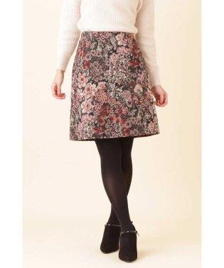 【美人百花 11月/CanCam 12月号掲載】ゴブランジャガード台形スカート