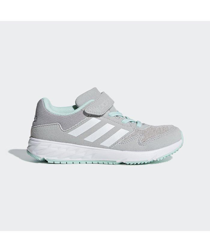 (adidas/アディダス)アディダス/キッズ/アディダスファイト CLASSIC EL K/ グレーTWOF17/ランニングホワイト/クリアミントF18