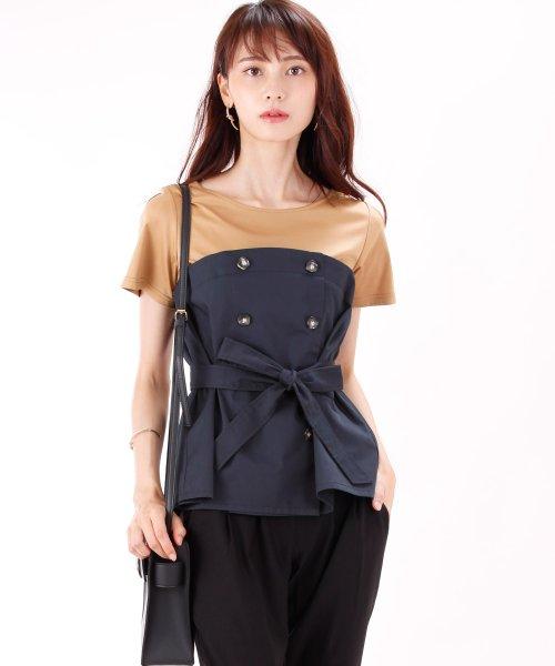 5d06ba3a81d6c ドッキングトレンチビスチェTシャツ|ブルーイースト(BLUEEAST)の ...
