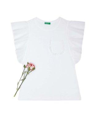 フリル袖チビポケットTシャツ・カットソー