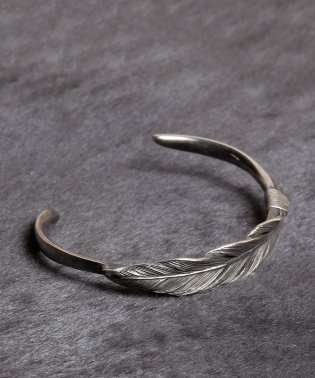 HARIM Owl feather bangle SILVER