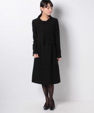 【オールシーズン・喪服・礼服・フォーマル用】ショルカラー裾切り替えアンサンブル・セットアップ