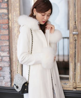 ★【MAGASEEK/d fashion別注カラー】【CanCam掲載】ウール100%フードファーメニーウェイコート