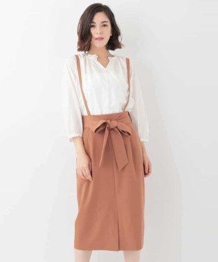 ウエストリボンサロペットスカート