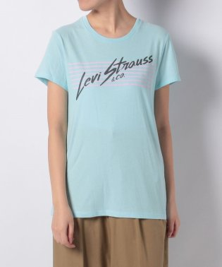 PERFECT GRAPHIC TEE STRIPES ICED AQUA GR