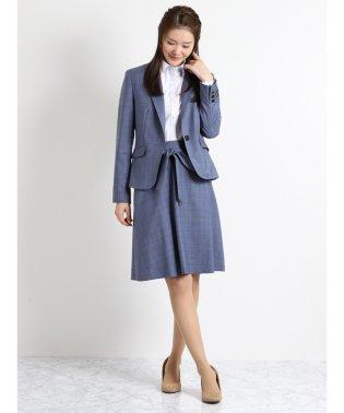 REDA 青チェックリボンフレアースカート セットアップ