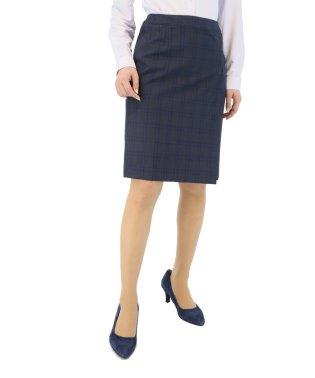REDA 紺チェックタイトスカート セットアップ