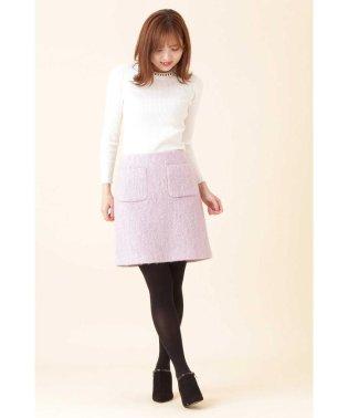 シャギー2ポケット台形ミニスカート