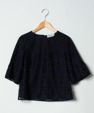 【セットアップ対応商品】チュール刺繍ブラウス