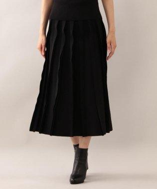 【ラマリア】ニットプリーツ見えスカート