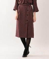 【ウォッシャブル】スウェードタッチストライプスカート