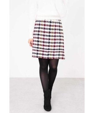 【CanCam 12月号掲載】カラーチェック台形スカート