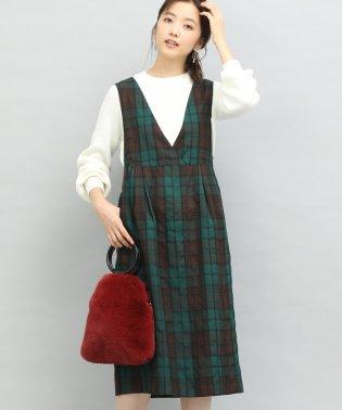 【Peter MacArthur×ViS】チェック柄ジャンパースカート