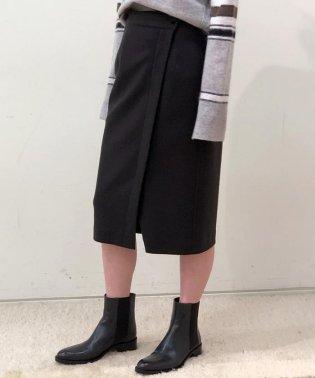 ウールメルトンジャージー ラップタイトスカート