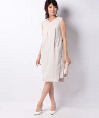 ネックレス付サイドレースタイトドレス