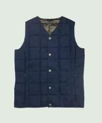 V NECK DENIM BUTTON DOWN VEST