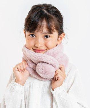 SHIPS KIDS:エコファー マフラー【WEB限定色ピンク】