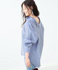Ray BEAMS / バック ボタン スキッパーシャツ