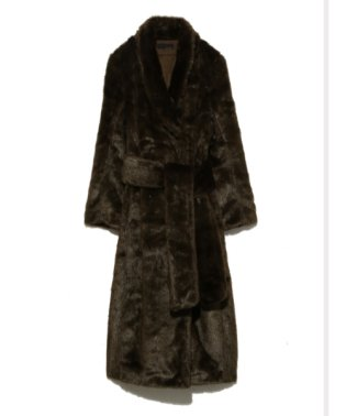 Long Eco fur coat