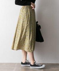 レトロフラワースカート