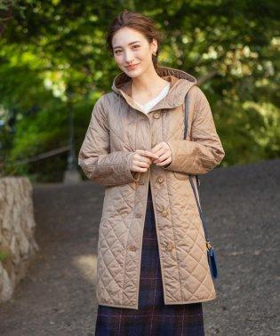 【18秋冬モデル】【LINDETH リンデス】ポランプロテクトフーデッドキルティングコート