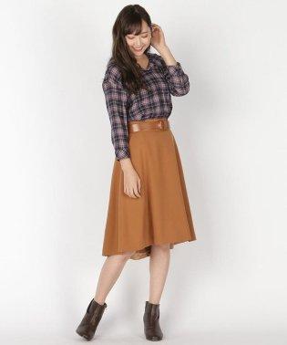 太ベルトカラースカート
