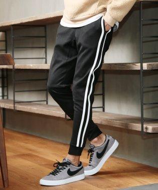 ポンチジョガーパンツ / ジョガー パンツ メンズ スウェットパンツ スエット サイドライン スウェット