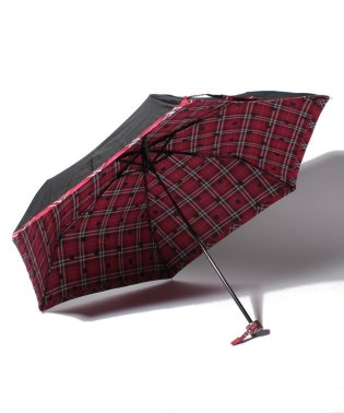 タータンチェック柄折りたたみ傘