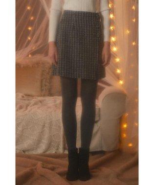 【CanCam 12月号掲載】《EDIT COLOGNE》スカラップツィードスカート