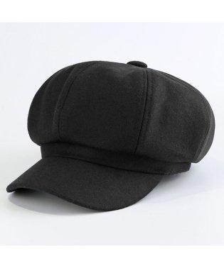 キャスケット レディース 秋冬 帽子 キャップ 無地 ハンチング帽 つば付き 小顔効果 即納