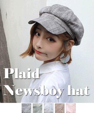 キャスケット帽子 レディース 小物 CAP おしゃれ つば付き?マリン帽 チェック柄