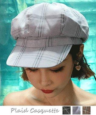 キャスケット帽子 レディース 格子チェック柄 CAP 小物 ファッション雑貨 帽子 秋冬