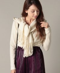 wool fringe jersey hooded stole tops