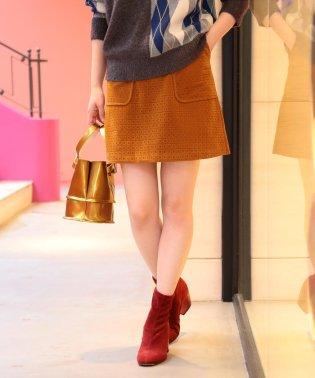 Ray BEAMS / フェイクスエード パッチポケット ミニスカート