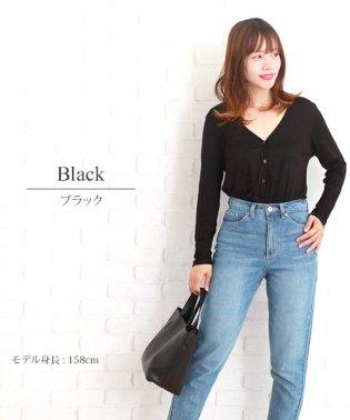 ロングVネックカーディガン 韓国 ファッション レディース 【S/S】【ra-2014】