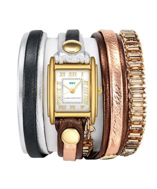 LA MER COLLECTIONS SWAROVSKI CRYSTAL WATCHES 腕時計 LMBGT001-BRONZE レディース