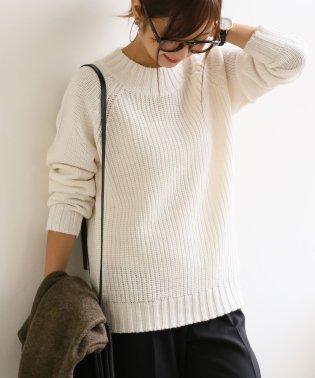 【S-4】片畦 ハイネック ニット トップス 長袖 セーター