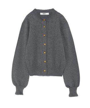透かし編み刺繍カーディガン