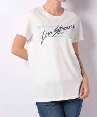 PERFECT GRAPHIC TEE STRIPES CLOUD DANCER