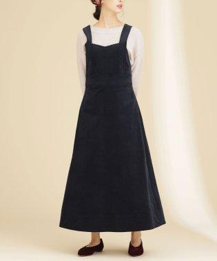 【mamagirl 冬号掲載】細コールフレアジャンパースカート