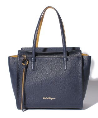 【Salvatore Ferragamo】AMY/トートバッグ【NAVY/MUSTARD】