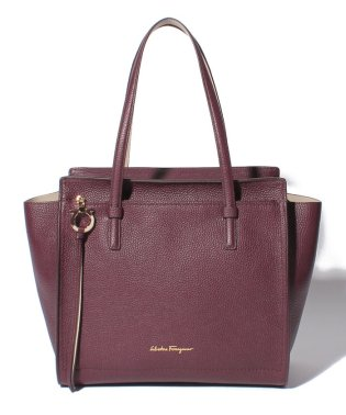 【Salvatore Ferragamo】AMY/トートバッグ【WINE/PEONY】