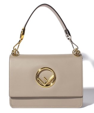 【FENDI】KAN I F/2WAYハンドバッグ【DOVE+SOFT GOLD】
