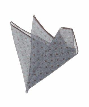 ポルカドットプリントポケットチーフ
